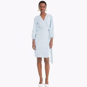 J. Crew Wrap Cotton Poplin Dress Sz 6